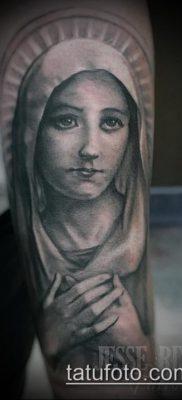 фото тату Дева Мария (значение) – пример интересного рисунка тату – 088 tatufoto.com
