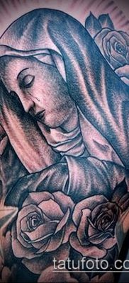 фото тату Дева Мария (значение) – пример интересного рисунка тату – 089 tatufoto.com