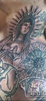 фото тату Дева Мария (значение) – пример интересного рисунка тату – 092 tatufoto.com