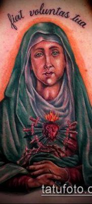 фото тату Дева Мария (значение) – пример интересного рисунка тату – 094 tatufoto.com