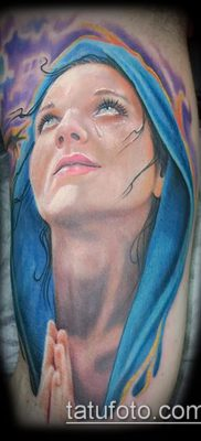 фото тату Дева Мария (значение) – пример интересного рисунка тату – 095 tatufoto.com