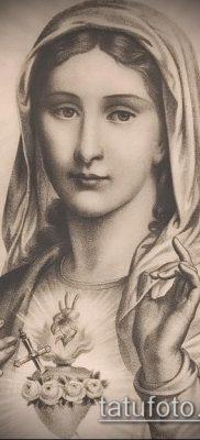 фото тату Дева Мария (значение) – пример интересного рисунка тату – 096 tatufoto.com