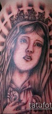 фото тату Дева Мария (значение) – пример интересного рисунка тату – 099 tatufoto.com