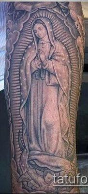 фото тату Дева Мария (значение) – пример интересного рисунка тату – 102 tatufoto.com