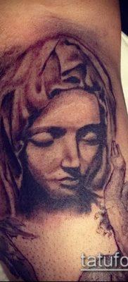 фото тату Дева Мария (значение) – пример интересного рисунка тату – 103 tatufoto.com
