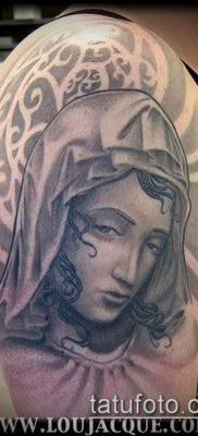 фото тату Дева Мария (значение) – пример интересного рисунка тату – 106 tatufoto.com