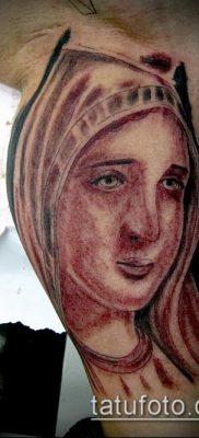фото тату Дева Мария (значение) – пример интересного рисунка тату – 107 tatufoto.com