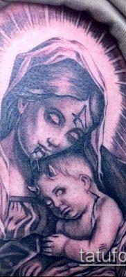 фото тату Дева Мария (значение) – пример интересного рисунка тату – 109 tatufoto.com