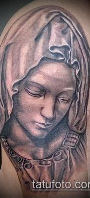 фото тату Дева Мария (значение) – пример интересного рисунка тату – 112 tatufoto.com