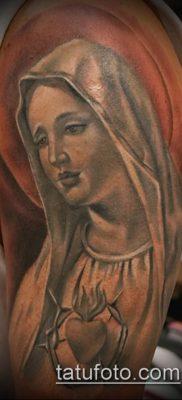 фото тату Дева Мария (значение) – пример интересного рисунка тату – 116 tatufoto.com