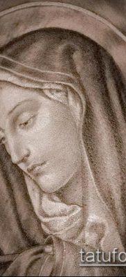 фото тату Дева Мария (значение) – пример интересного рисунка тату – 117 tatufoto.com