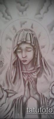 фото тату Дева Мария (значение) – пример интересного рисунка тату – 118 tatufoto.com