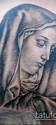 фото тату Дева Мария (значение) – пример интересного рисунка тату – 123 tatufoto.com