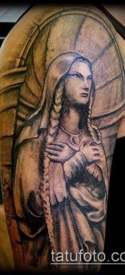 фото тату Дева Мария (значение) – пример интересного рисунка тату – 129 tatufoto.com