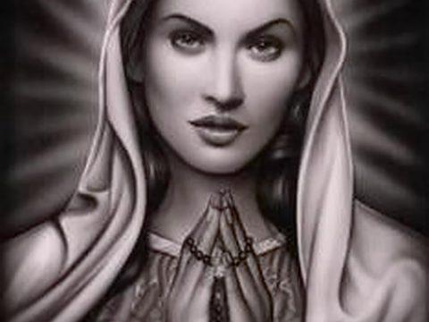 фото тату Дева Мария (значение) - пример интересного рисунка тату - 130 tatufoto.com