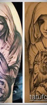фото тату Дева Мария (значение) – пример интересного рисунка тату – 132 tatufoto.com