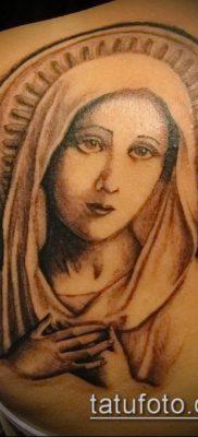 фото тату Дева Мария (значение) – пример интересного рисунка тату – 133 tatufoto.com