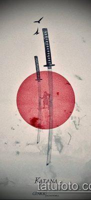 фото тату Катана (tattoo Katana) (значение) – пример рисунка – 020 tatufoto.com