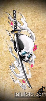 фото тату Катана (tattoo Katana) (значение) – пример рисунка – 065 tatufoto.com