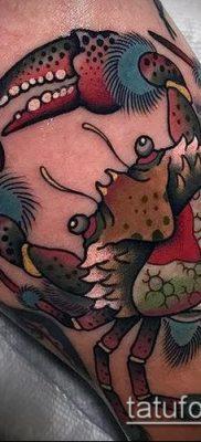 фото тату Краб (Рак) (значение) – пример интересного рисунка тату – 008 tatufoto.com