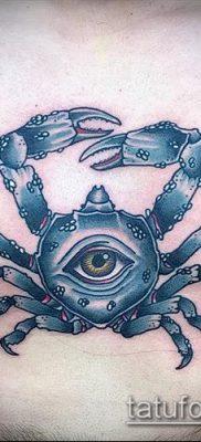 фото тату Краб (Рак) (значение) – пример интересного рисунка тату – 013 tatufoto.com