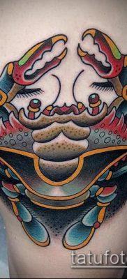 фото тату Краб (Рак) (значение) – пример интересного рисунка тату – 016 tatufoto.com