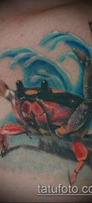 фото тату Краб (Рак) (значение) – пример интересного рисунка тату – 017 tatufoto.com