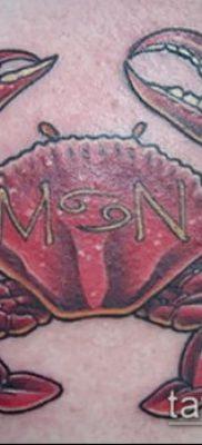 фото тату Краб (Рак) (значение) – пример интересного рисунка тату – 021 tatufoto.com