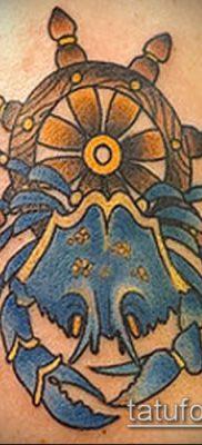 фото тату Краб (Рак) (значение) – пример интересного рисунка тату – 036 tatufoto.com
