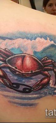 фото тату Краб (Рак) (значение) – пример интересного рисунка тату – 043 tatufoto.com