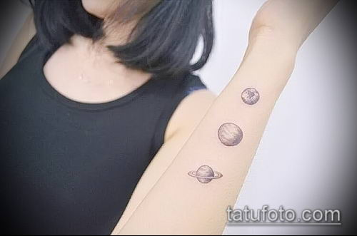фото тату Сатурн (tattoo Saturn) (значение) - пример рисунка - 010 tatufoto.com