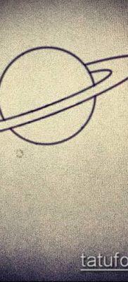 фото тату Сатурн (tattoo Saturn) (значение) – пример рисунка – 014 tatufoto.com