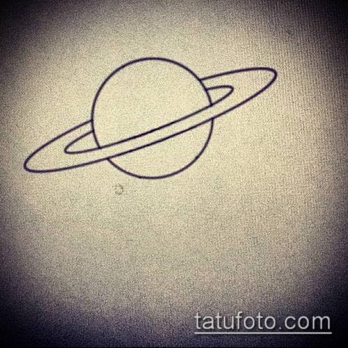 фото тату Сатурн (tattoo Saturn) (значение) - пример рисунка - 014 tatufoto.com