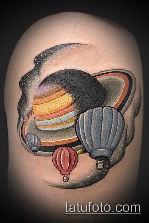 фото тату Сатурн (tattoo Saturn) (значение) - пример рисунка - 041 tatufoto.com