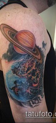 фото тату Сатурн (tattoo Saturn) (значение) – пример рисунка – 060 tatufoto.com