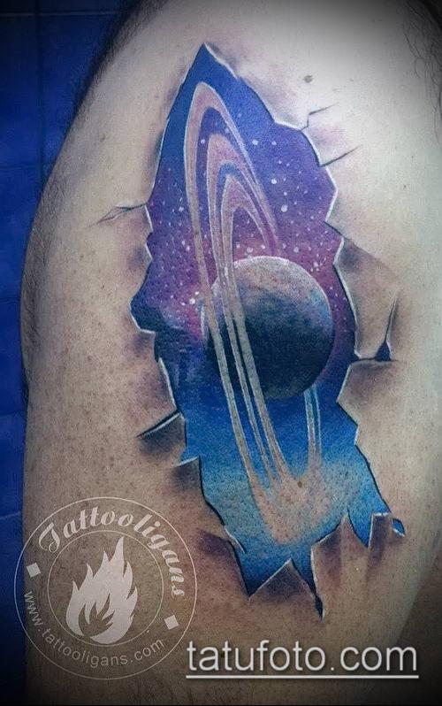 фото тату Сатурн (tattoo Saturn) (значение) - пример рисунка - 066 tatufoto.com
