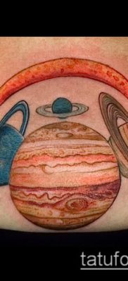 фото тату Сатурн (tattoo Saturn) (значение) – пример рисунка – 076 tatufoto.com