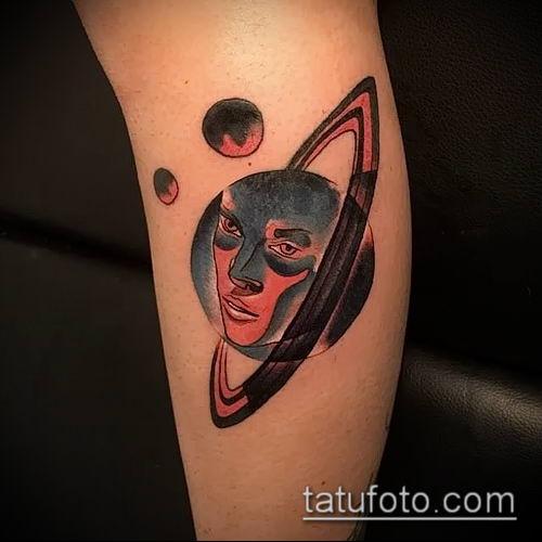 фото тату Сатурн (tattoo Saturn) (значение) - пример рисунка - 087 tatufoto.com