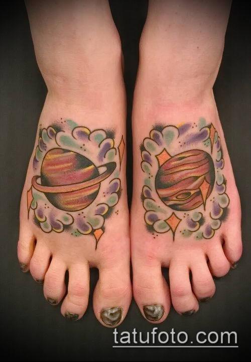 фото тату Сатурн (tattoo Saturn) (значение) - пример рисунка - 088 tatufoto.com