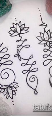 фото тату Уналоме (tattoo Unalome) (значение) – пример рисунка – 003 tatufoto.com