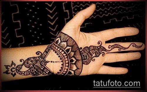 фото тату арабское мехенди (Arabic mehen) (значение) - пример рисунка - 005 tatufoto.com