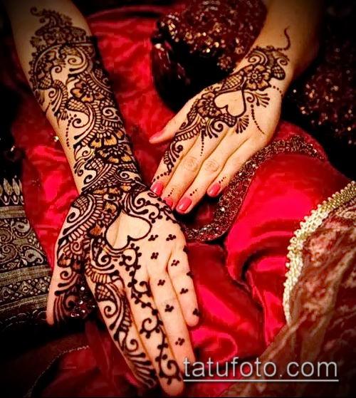 фото тату арабское мехенди (Arabic mehen) (значение) - пример рисунка - 040 tatufoto.com