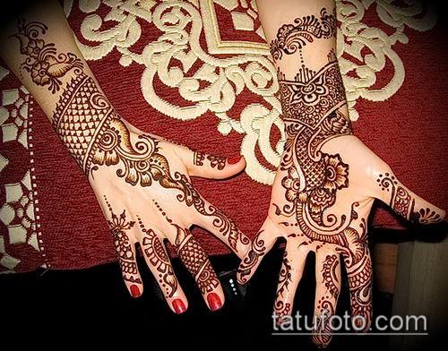 фото тату арабское мехенди (Arabic mehen) (значение) - пример рисунка - 041 tatufoto.com