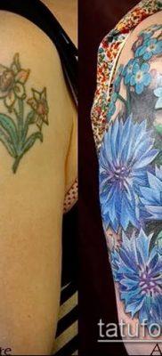 фото тату василек (cornflower tattoo) (значение) – пример рисунка – 005 tatufoto.com