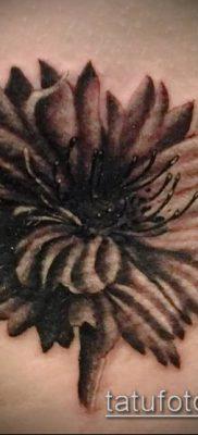 фото тату василек (cornflower tattoo) (значение) – пример рисунка – 009 tatufoto.com