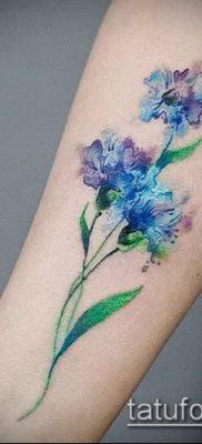 фото тату василек (cornflower tattoo) (значение) – пример рисунка – 015 tatufoto.com