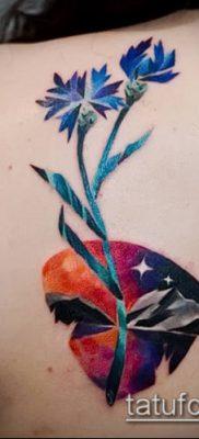 фото тату василек (cornflower tattoo) (значение) – пример рисунка – 020 tatufoto.com