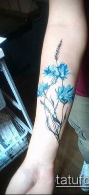 фото тату василек (cornflower tattoo) (значение) – пример рисунка – 025 tatufoto.com