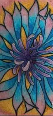 фото тату василек (cornflower tattoo) (значение) – пример рисунка – 035 tatufoto.com