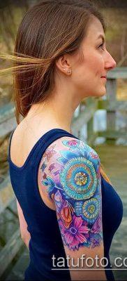 фото тату василек (cornflower tattoo) (значение) – пример рисунка – 038 tatufoto.com